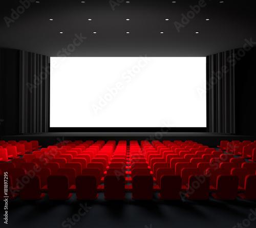 SALLE DE CINEMA - 3D - Grand format avec débords