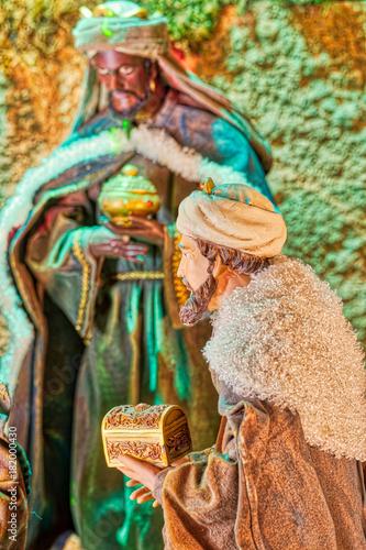 Cuadros en Lienzo wise men of Christmas Nativity scene