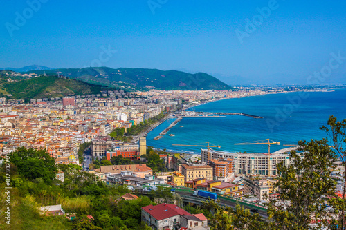 Wallpaper Mural Aerial view of Salerno. Italy