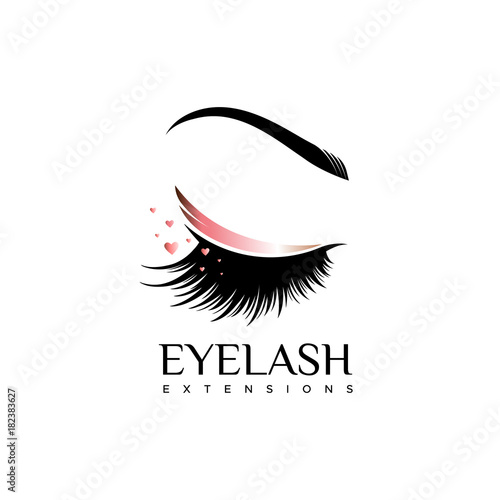 Fotografia Eyelash extension logo