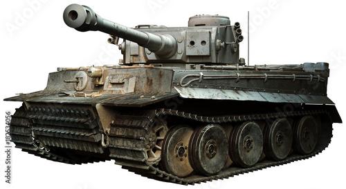 Valokuva Tiger tank in steel grey