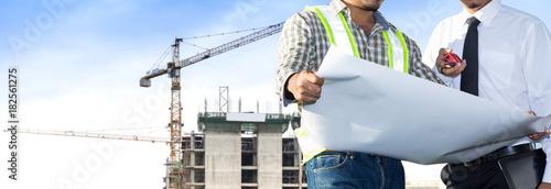 Building site and building design and engineers. Tapéta, Fotótapéta