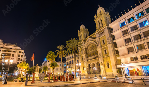 The Cathedral of St. Vincent de Paul in Tunis, Tunisia