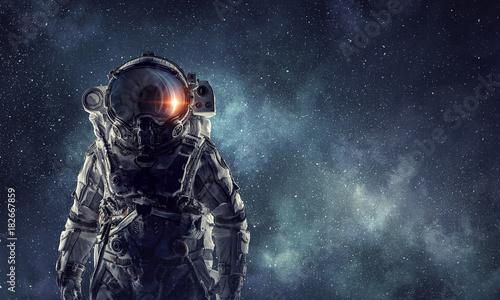 Fotografie, Tablou Adventure of spaceman. Mixed media