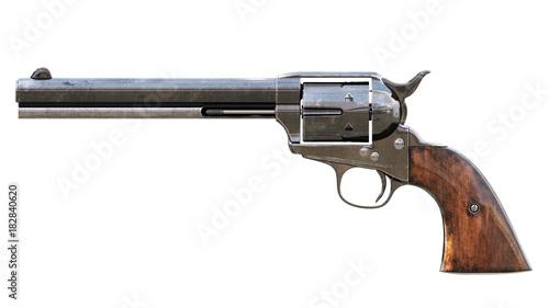 Obraz na plátně Vintage revolver isolated. 3D render