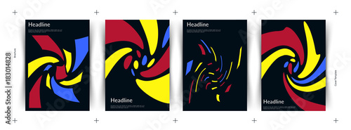 Fotografie, Obraz Abstract covers set