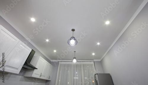 Obraz na płótnie ceiling lighting, modern chandeliers, white ceiling