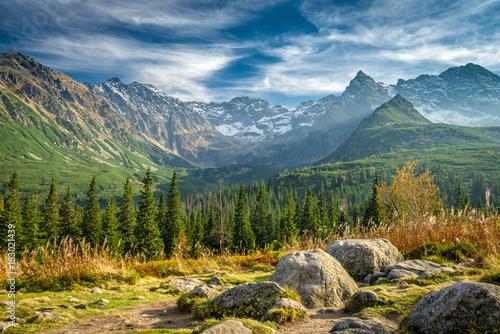 Obraz premium Autumn in Hala Gasienicowa, Tatra mountains, Poland
