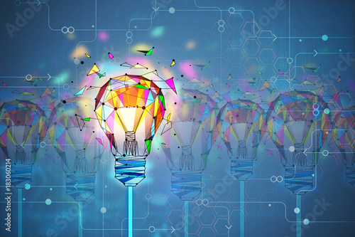 Innovation and creativity concept