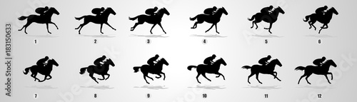Fotografia Horse Run cycle, Animation, Sprites, Sprites sheets, Animation frames, sequence,