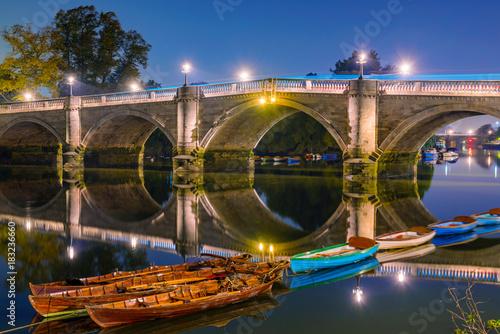 Stampa su Tela Richmond bridge night view