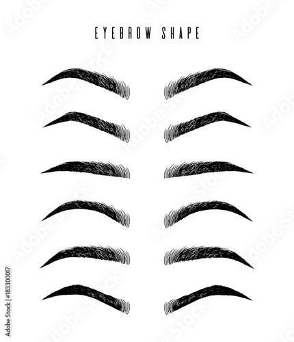Tablou Canvas Eyebrow shapes