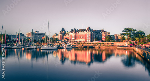 Photo View of Inner Harbour of Victoria, Vancouver Island, B.C., Canada