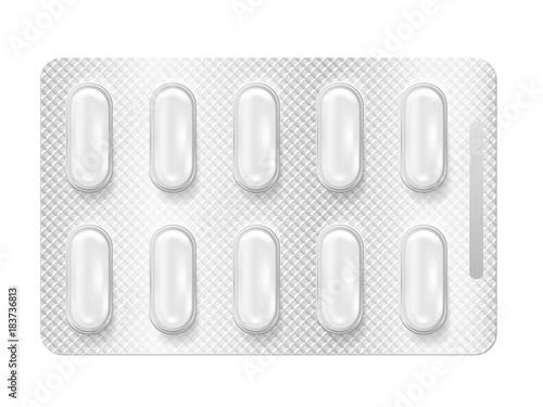 Tablou Canvas Realistic 3d blister pills