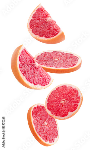 grapefruits isolated on a white background