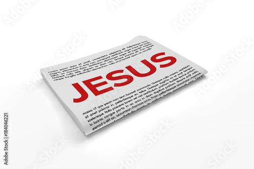 Slika na platnu Jesus on Newspaper background