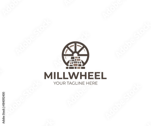 Canvas-taulu Millwheel Logo Template