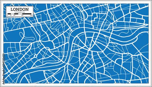 Fotografie, Obraz London England Map in Retro Style.