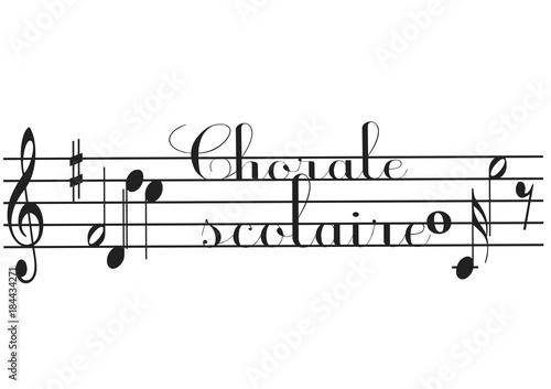 Foto chorale scolaire portée musicale