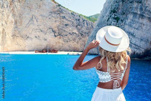 Photo Model Photography in Shipwreck Beach ( Navagio ) in Zakynthos , Greece