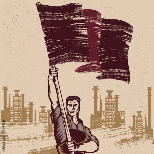 Wallpaper Mural Vintage Revolution Poster