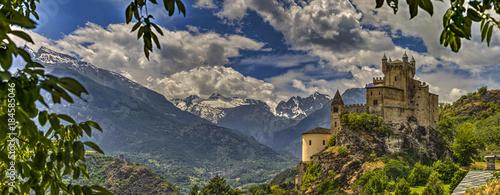 Leinwand Poster Castello di Saint-Pierre, val d'Aosta