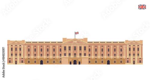 Photo Modern United Kingdom Famous Tourist Landmark Building Illustration - Buckingham