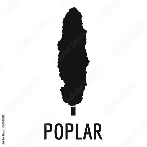 Vászonkép Poplar tree icon