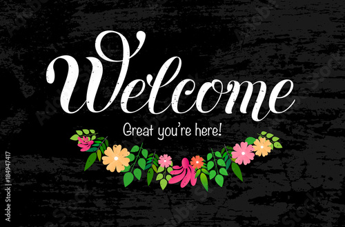 Fotografering Welcome hand lettering