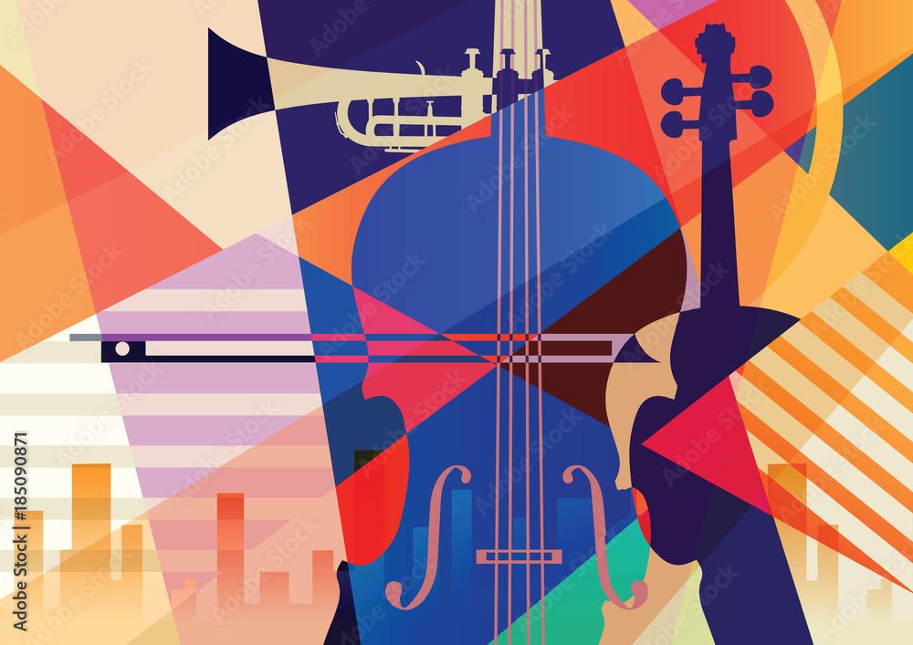Kolorowe tło muzyczne. <span>plik: #185090871   autor: Yevhen</span>