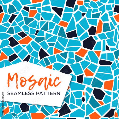 Canvas Print Bright abstract mosaic seamless pattern