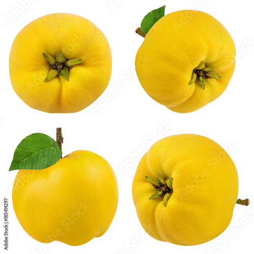 Photographie Fresh quince isolated on white background with clipping path
