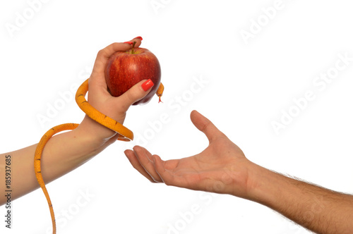 Fototapeta Metaphor of the symbolism of Adam and Eve 004