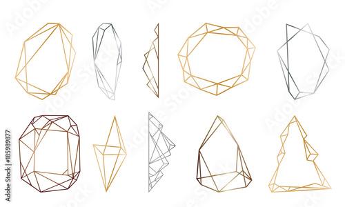 Fotografia, Obraz polygonal frames set