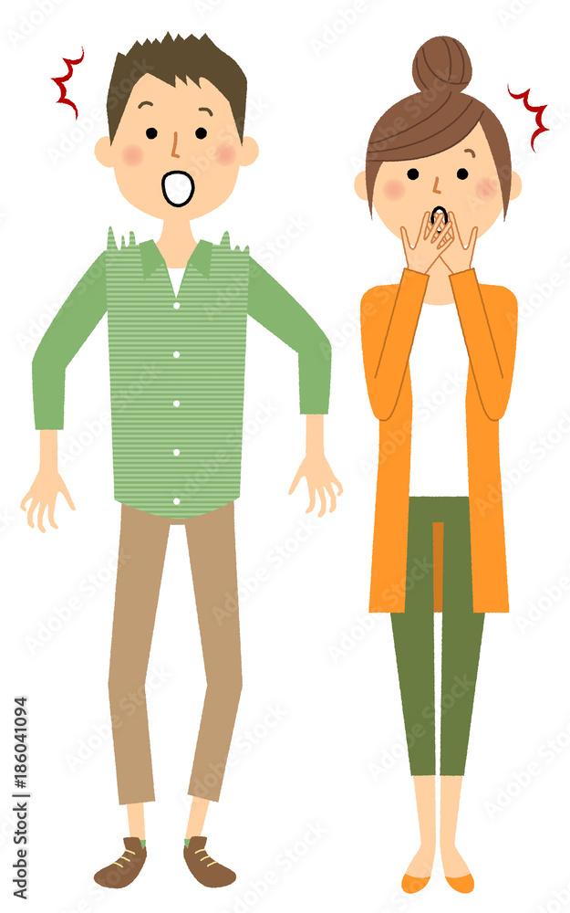若いカップル 驚く <span>plik: #186041094   autor: studiolaut</span>