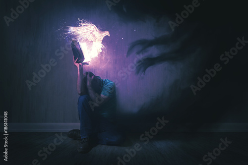 Holy Spirit and Darkness Fototapet