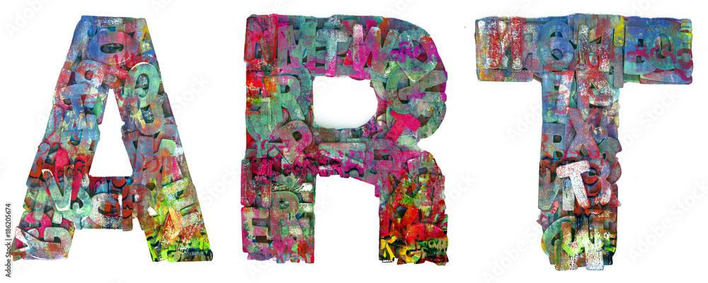 graffiti słowo ART <span>plik: #186205674 | autor: charles taylor</span>