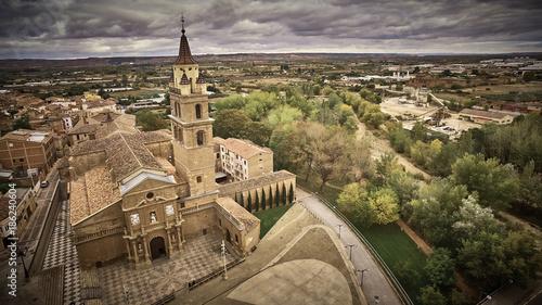 cloudy sky in Calahorra village in La Rioja province, Spain