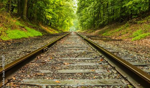 Photo Abandoned railroad background