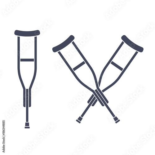 Fotografia Crutches vector icon