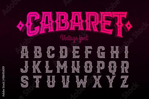 Vintage style font Fototapet