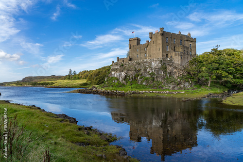 Wallpaper Mural Dunvegan Castle and harbour on the Island of Skye, Scotland