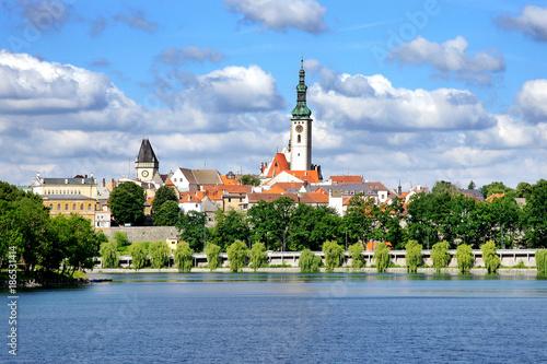 Fényképezés Jordan pond and panorama of historical Tabor city, South Bohemia region, Czech r
