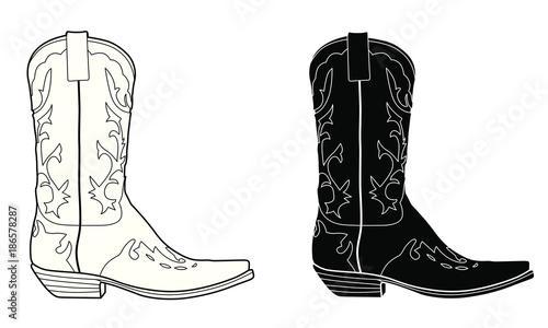 Canvastavla Cowboy boot
