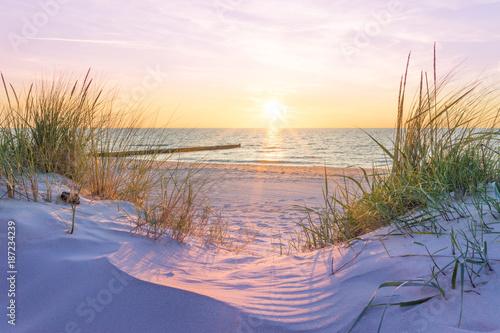 Obraz na płótnie Zachód słońca nad Morzem Bałtyckim