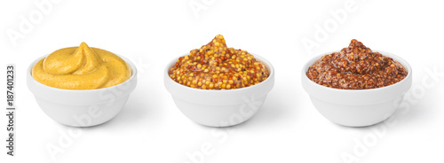 Fotografia mustard in bowls set