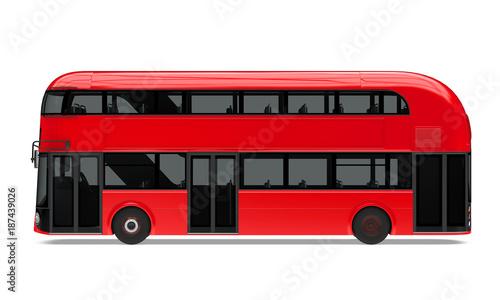 Платно New London Double Decker Bus Isolated