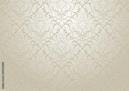 Fototapeta Vector damask wallpaper design