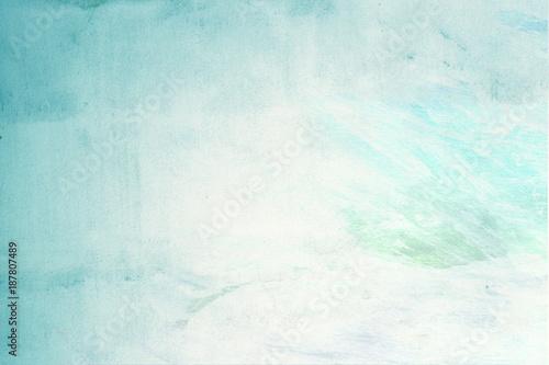 turkusowy zielony pastelowy kolor na ścianie - projekt graficzny