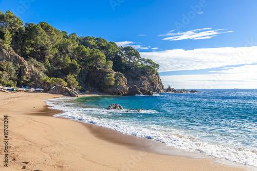 Leinwand Poster Costa Brava beach